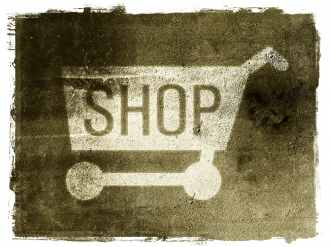 It's a stencil of a shopping cart. Not sure why. So it goes.