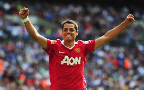 Javier Hernandez, looking chuffed