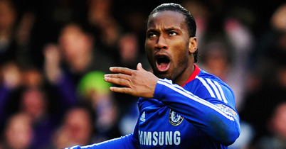 Didier Drogba, holding forth
