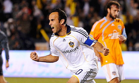 Landon Donovan, happy