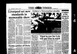 "The Times back page, 1988: ""Liverpool Set New Standards In Memorable Show"""