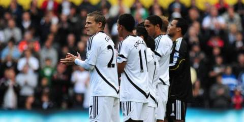 Swansea players applauding